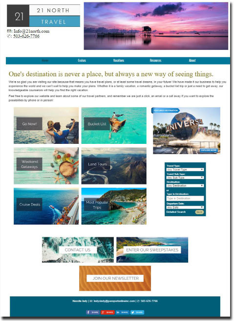 NexCite Independent: Websites for Travel Agency Contractors